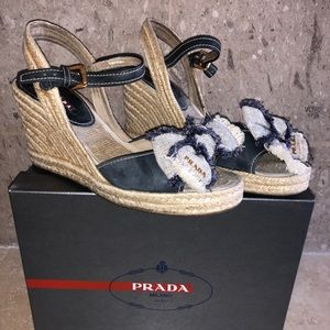 Prada Open Toe Bow Sandals